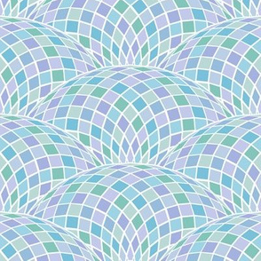geodesic scallop - pastel blues