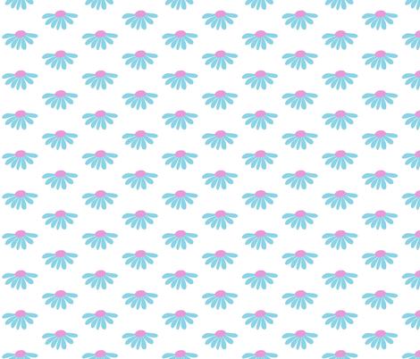 Daisies fabric by bashfulbirdie on Spoonflower - custom fabric