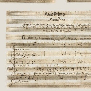 Alessandro Scarlatti's handwritten sheet music for Griselda