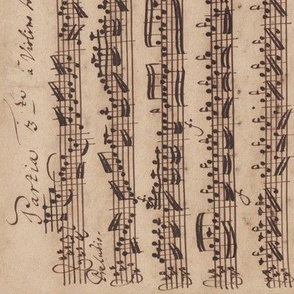 Bach's handwritten sheet music - Preludio - BWV1006 (sideways)
