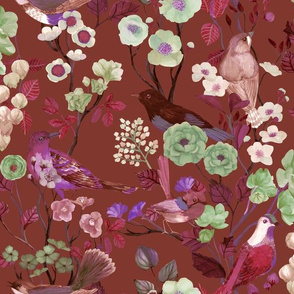 Birds and Blooms Chinoiserie {Antique Forest}