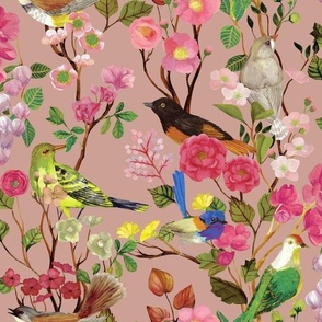 Birds and Blooms Chinoiserie {Rose}