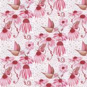 Humming pink spring design