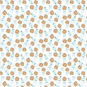 milk and cookies micro print