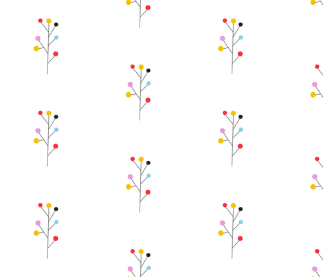 Twigs fabric by bashfulbirdie on Spoonflower - custom fabric