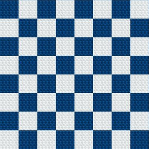 Medium blue checked