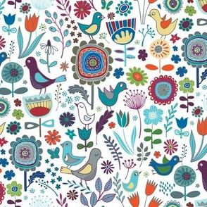 Birds & blooms - Iznik