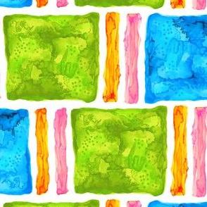 Watercolor blocks