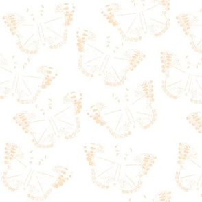 Abstract Butterfly in peach // bliss design studio