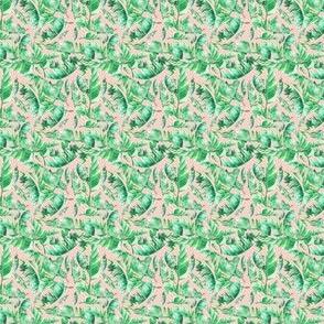 MINI / Floral Tropical Leaves / Medium Peach Hue