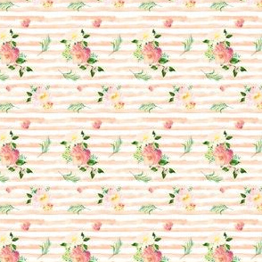 MINI / Floral Flamingo Stripes / Peach / Free Falling
