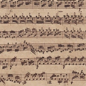 Bach's handwritten sheet music - seamless, original colors