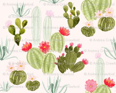 Bloomin' Desert on pink