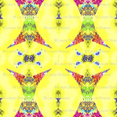 Rainbow wizard on yellow