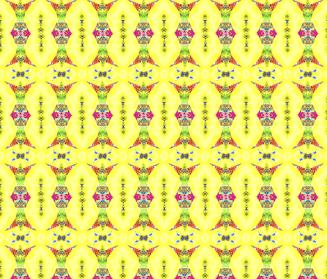 Rainbow wizard on yellow fabric by twigsandblossoms on Spoonflower - custom fabric
