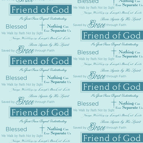 Friend of God Names on Aqua Green