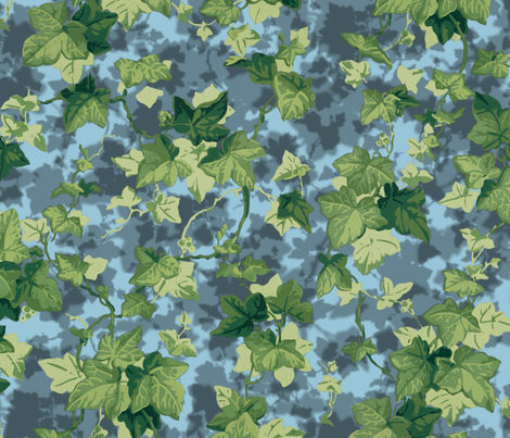 English Ivy ~ Shadows on Dorothea  fabric by peacoquettedesigns on Spoonflower - custom fabric
