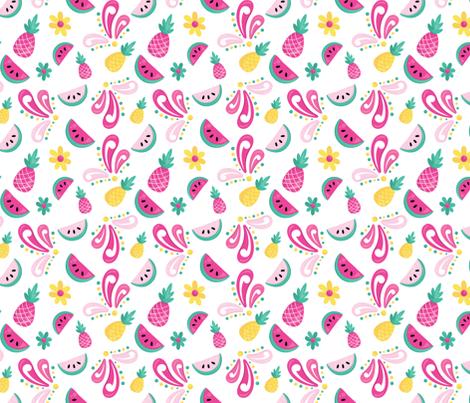 Flamingos 09 fabric by prettygrafik on Spoonflower - custom fabric