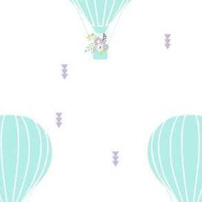 Hot Air BalloonLilac and Floral