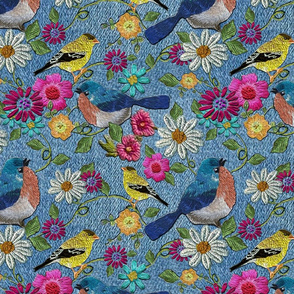 boho_birds_and_flowers_fat_qtr