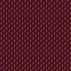 (micro print) little bolts on maroon
