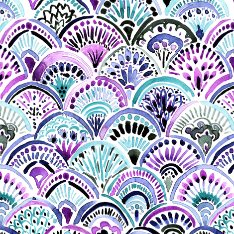 Mermaid_Medallion fabric by crystal_walen on Spoonflower - custom fabric