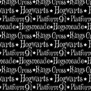 Station list in black