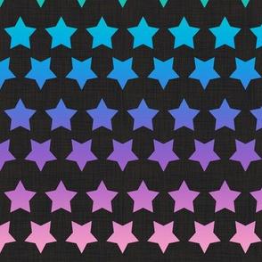 Stars Pastel Rainbow  on Black