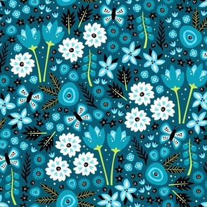 Spring Garden (Dark Blue Small)