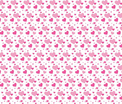 Foxes and Hearts 02 fabric by prettygrafik on Spoonflower - custom fabric