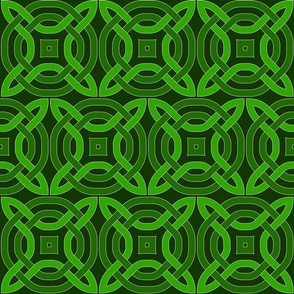 Green Celtic Circles