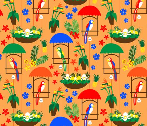 Tiki Room Birds fabric by moderntikilounge on Spoonflower - custom fabric