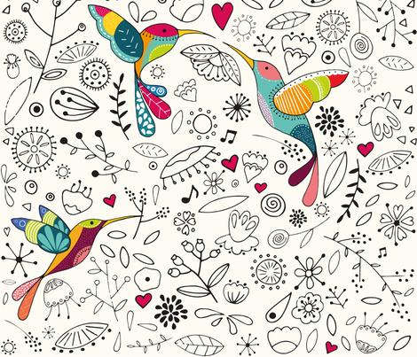 blossom_love fabric by aleksandra_furach on Spoonflower - custom fabric