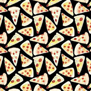Plenty of Pizza on Black
