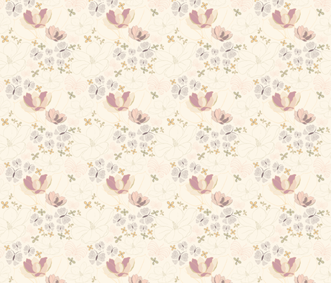 Botanical dreams fabric by byannika on Spoonflower - custom fabric