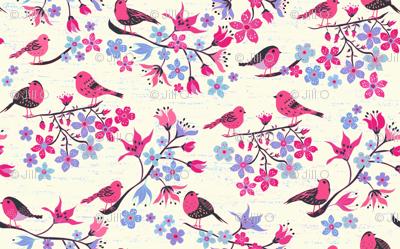 Birds and Cherry Blossom