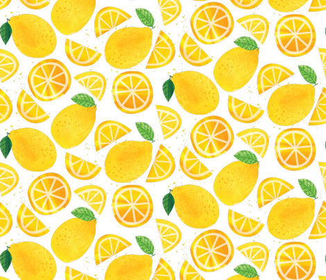 Lemon Squeeze fabric by designs_by_lisa_k on Spoonflower - custom fabric