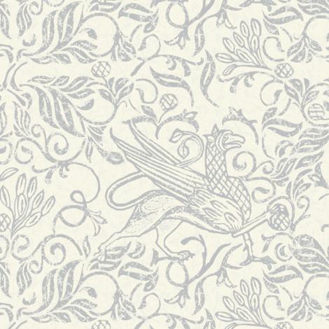 griffon-soft cool grey fabric by wren_leyland on Spoonflower - custom fabric