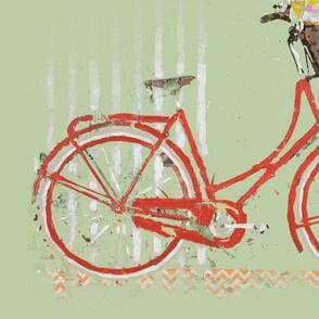 Red Garden Bike