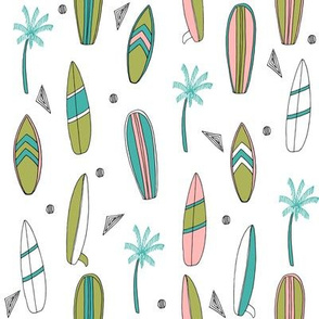surfboard fabric // surf tropical summer design - brights