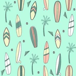 surfboard fabric // surf tropical summer design - custom colors