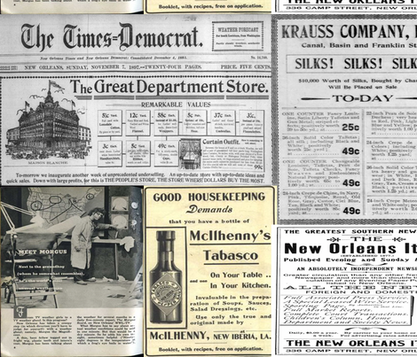 old_newspaper_new_orleans_ fabric by piete on Spoonflower - custom fabric
