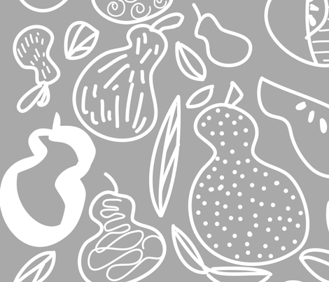 Pears gallore fabric by julie_thibault on Spoonflower - custom fabric