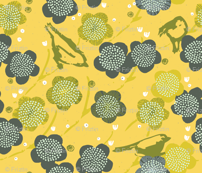 Birds and Blooms M+M Yolk by Friztin