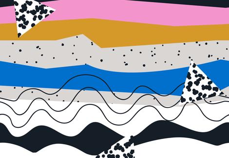 Desert  Summer fabric by bashfulbirdie on Spoonflower - custom fabric