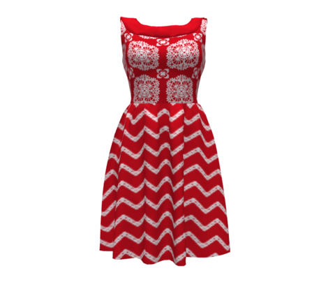 One September Night  Zig-Zag  ~ red/wht -ed