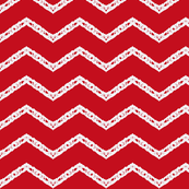 One September Night  Zig-Zag  ~ red/wht