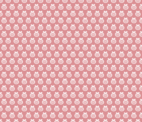 Sweet poppy fruit garden abstract apple blossom pink fabric by littlesmilemakers on Spoonflower - custom fabric