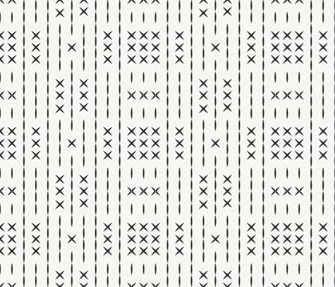 cross_line_mud_cloth bone fabric by holli_zollinger on Spoonflower - custom fabric