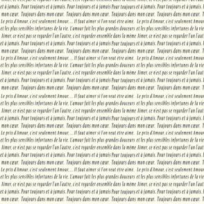 French Love Script